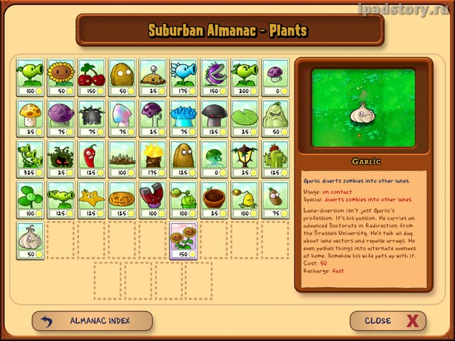 Plants vs. Zombies на iPad