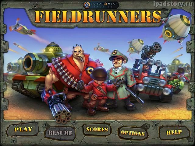 Fieldrunners для iPad