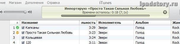 Настройка импорта музыки в iTunes