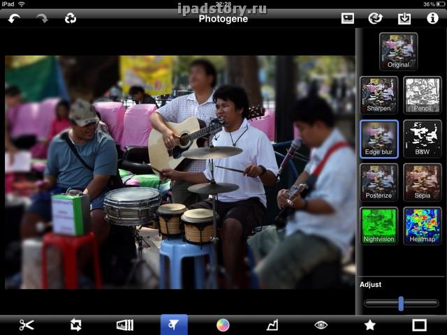 обработка фото на iPad