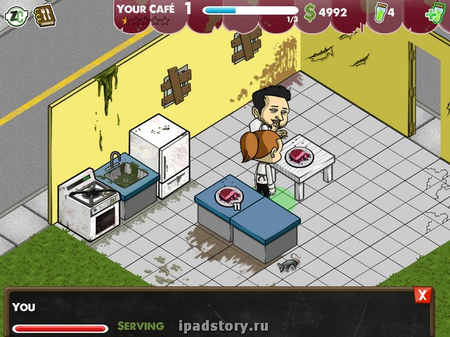 Zombie cafe ipad