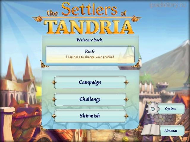 The Settlers of Tandria iPad