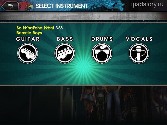 rock band ipad