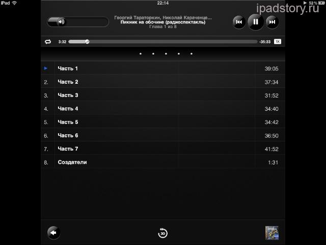 Аудиокниги iPad