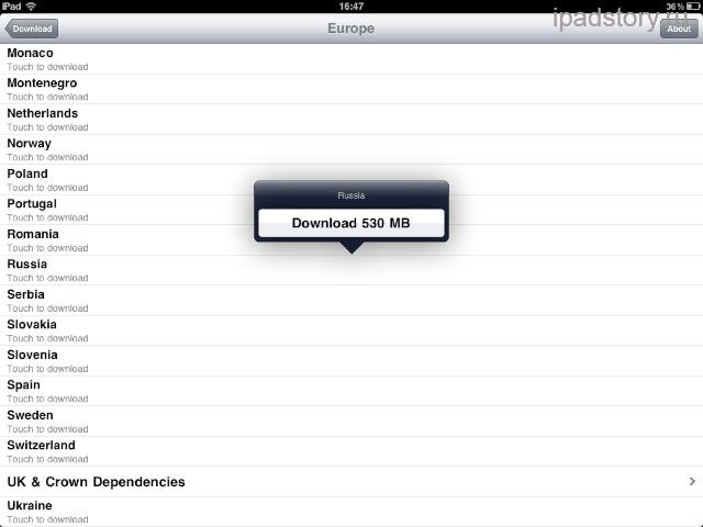 оффлайновые карты для iPad