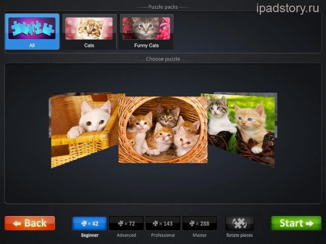 бесплатные паззлы для iPad