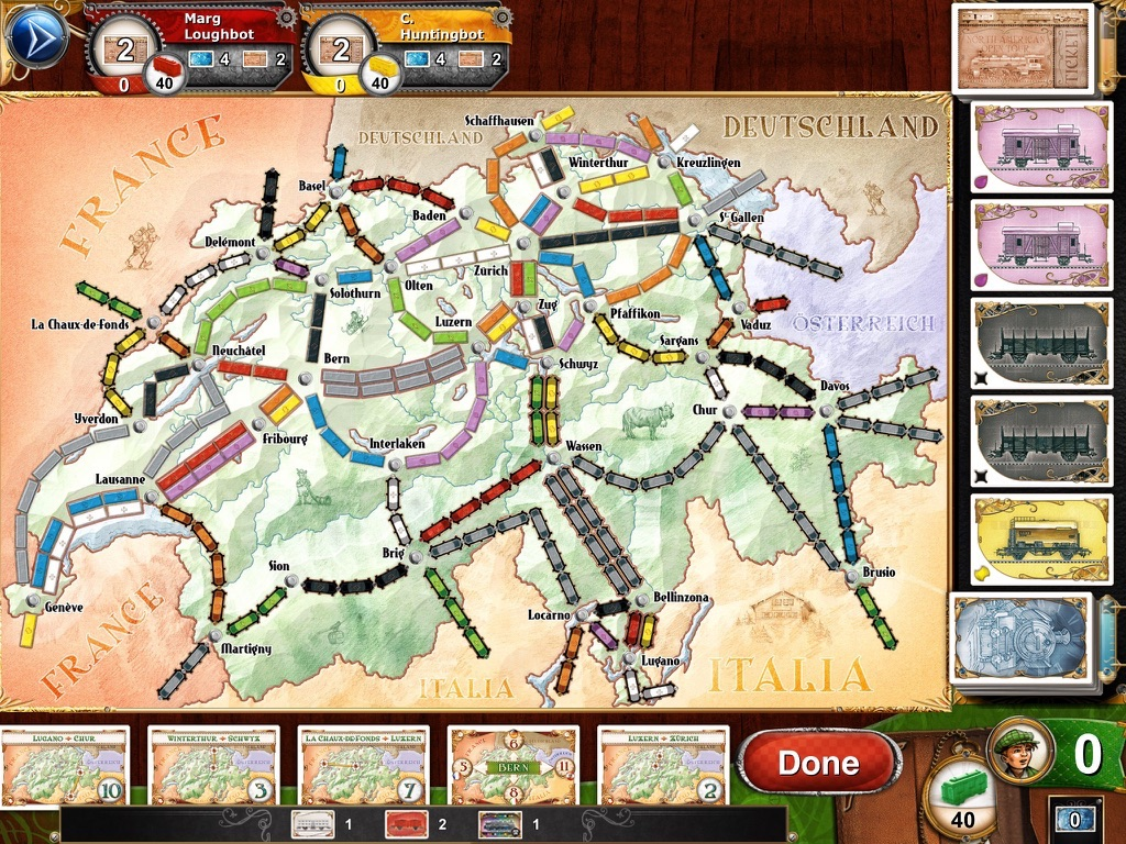 Ticket to Ride Швейцария