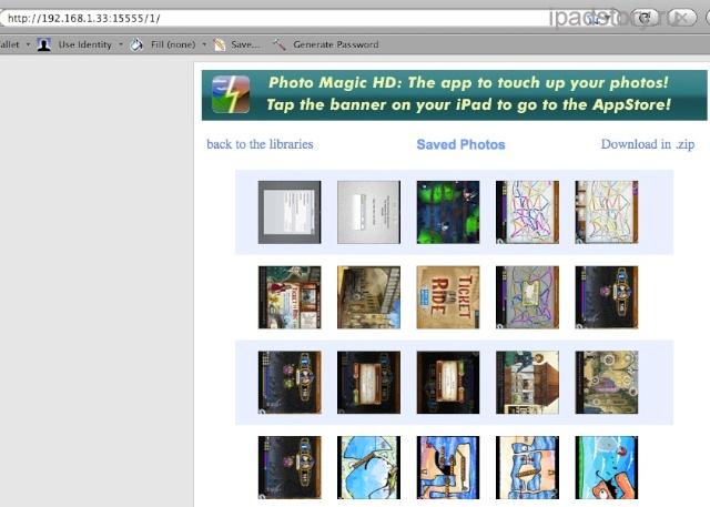 передача фото на iPad по wi-fi