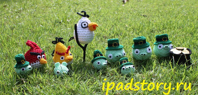 Вязаные Angry Birds
