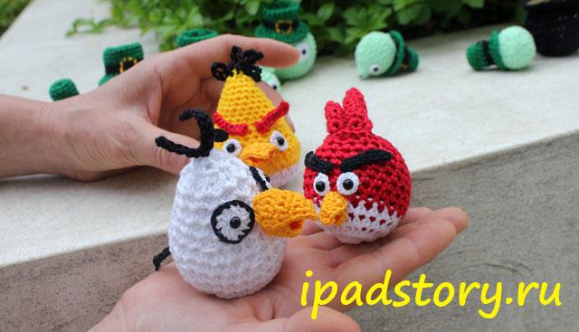 Angry Birds вязаные крючком