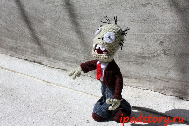 вязаный крючком зомби из Plants vs. Zombies