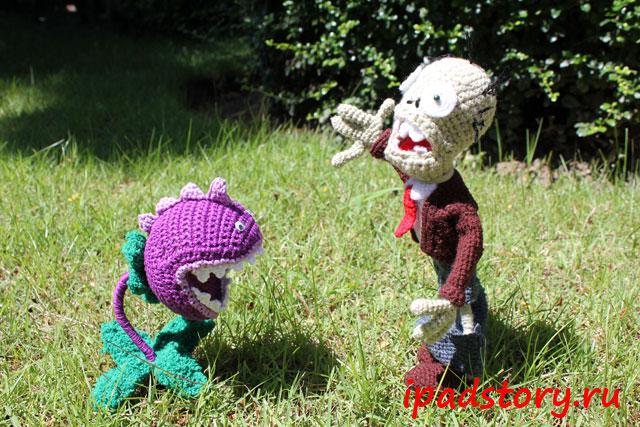 вязаный крючком жевун из Plants vs. Zombie