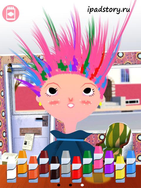 Toca Hair Salon приложение для детей на iPad