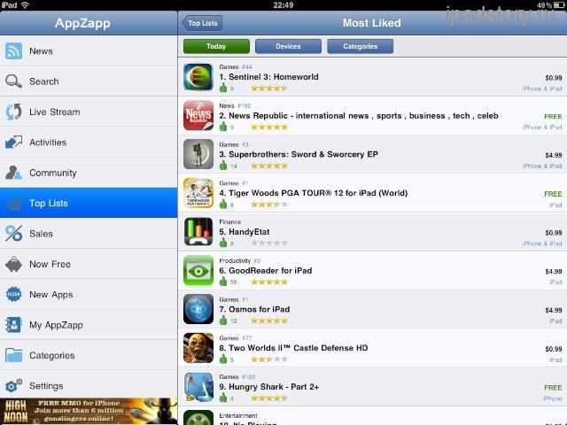 AppZapp iPad