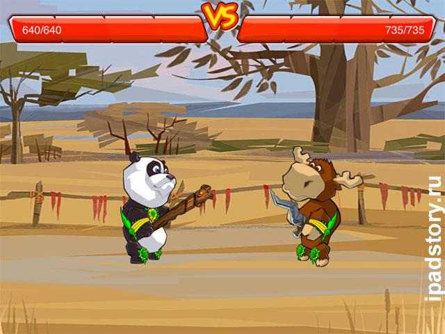 Крадущаяся панда, затаившийся лось на iPad