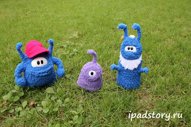 вязаные герои игры Sprinkle