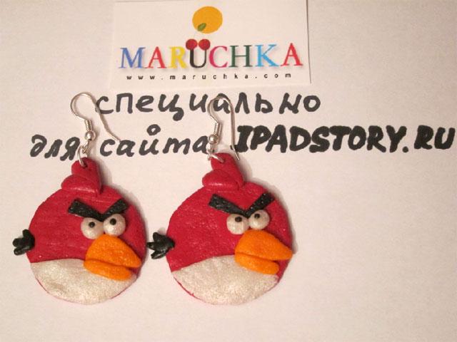 Сережки Angry Birds от Марины