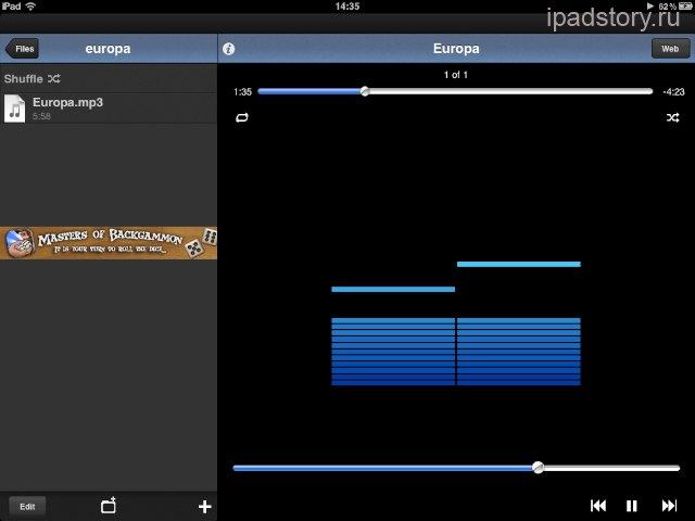 бесплатно музыка на iPad