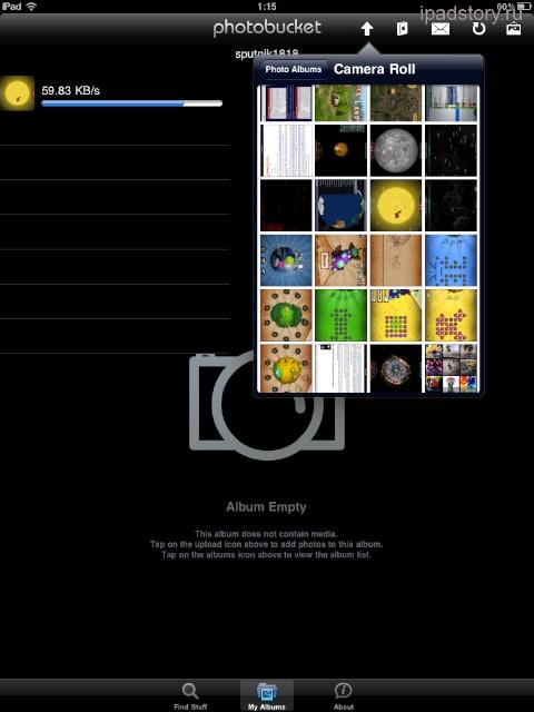 как с iPad загружать фотографии в интернет