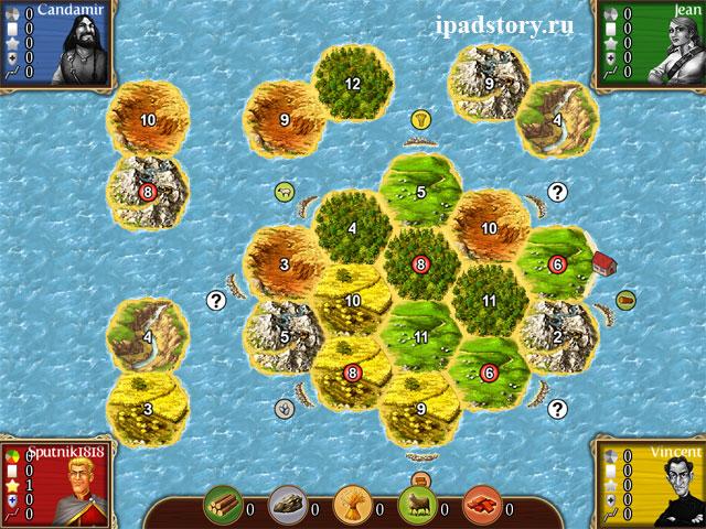 Heading for New Shores (Новые берега) - карты в игре Катан на iPad
