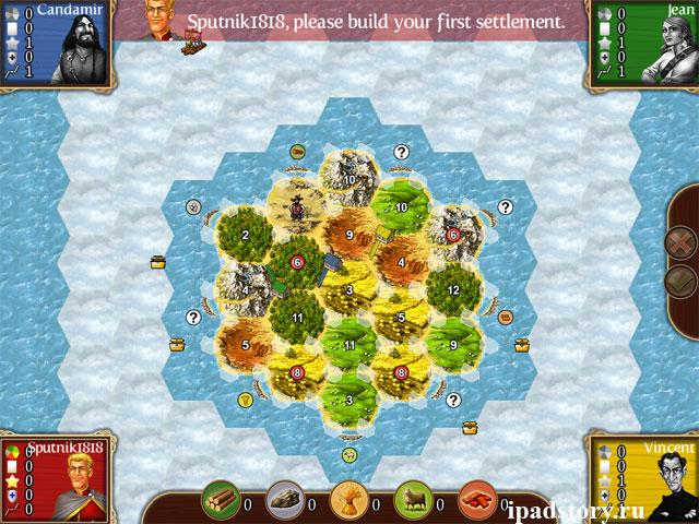 The Treasure Islands (Острова сокровищ) - карты в игре Катан для iPad