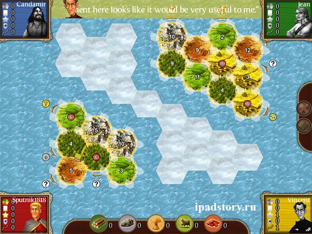 Oceania II (Океания 2) - карта в игре Катан на iPad
