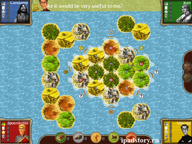 Greater Catan I (Больше Катана 1) - карты в игре Катан для iPad