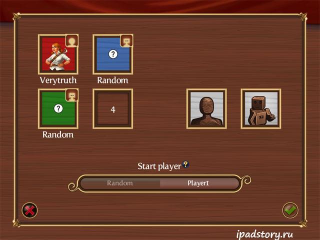 выбор игроков, Инструкция по игре Catan HD