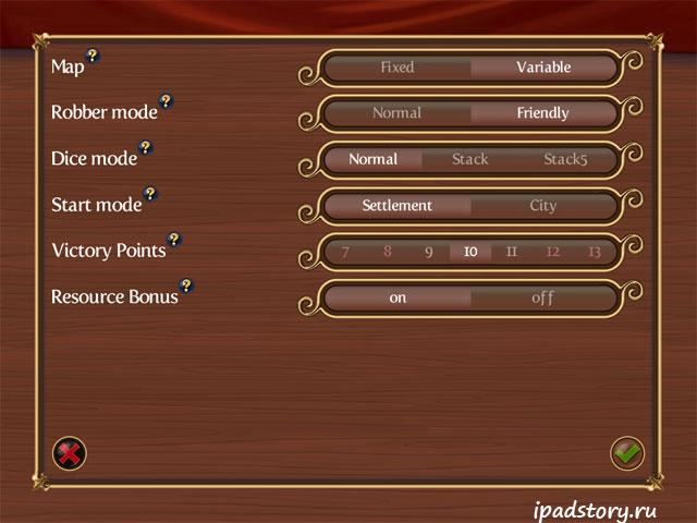 настройки игры, Инструкция по игре Catan HD