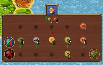 обмен ресурсами, игра Катан для iPad
