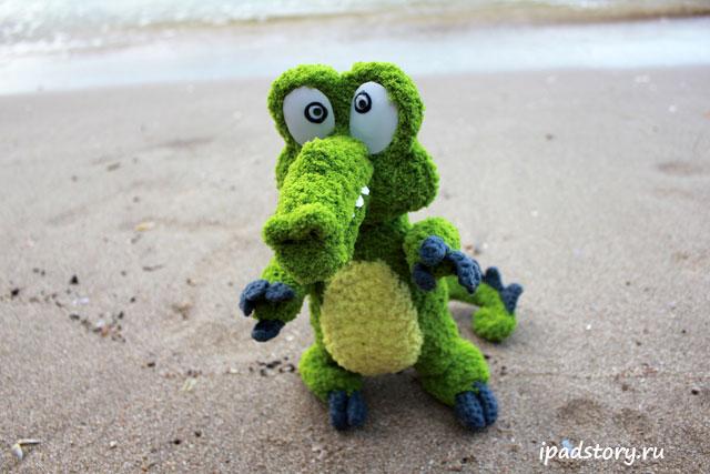 Крокодильчик Свомпи - вязаная игрушка из игры
