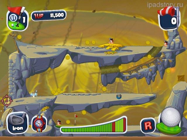 Worms Crazy Golf iPad