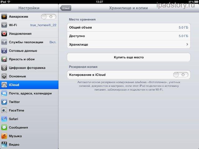 iCloud iPad