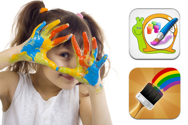 детские приложения на iPad, рисовалки