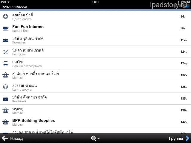 Sygic на iPad