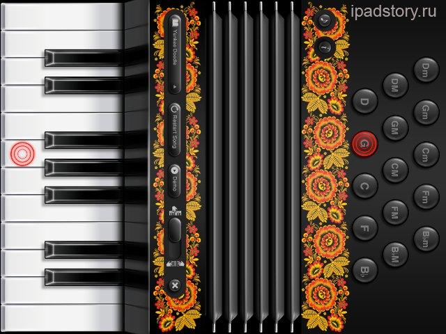 Аккордеон на iPad