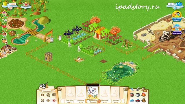 Веселая Усадьба, скриншот из игры на сайте Вконтакте
