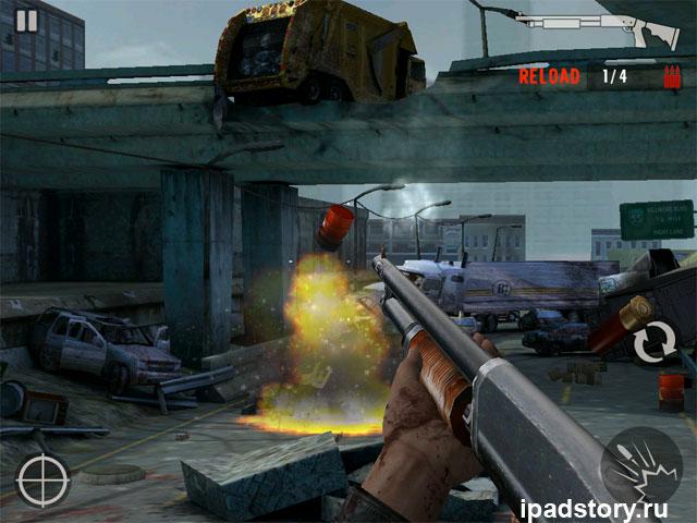 Contract Killer: Zombies - скриншот из игры для iPad