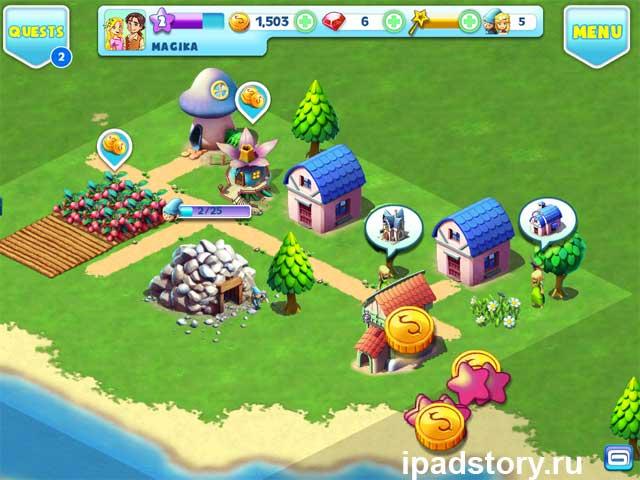 Fantasy Town - игра для iPad, скриншот начала игры
