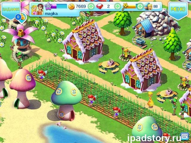 Fantasy Town - ферма фей, скриншот из игры на iPad