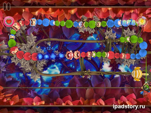 Sparky vs. Glutters - iPad, скриншот уровня из игры