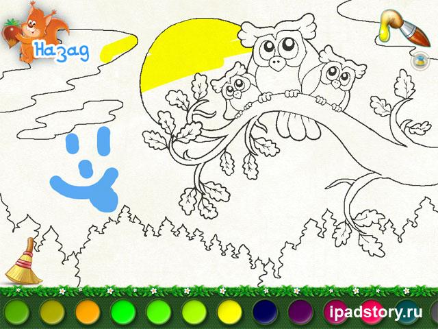 Детские пазлы и раскраска на iPad: В Зоопарке, скриншоты из игры