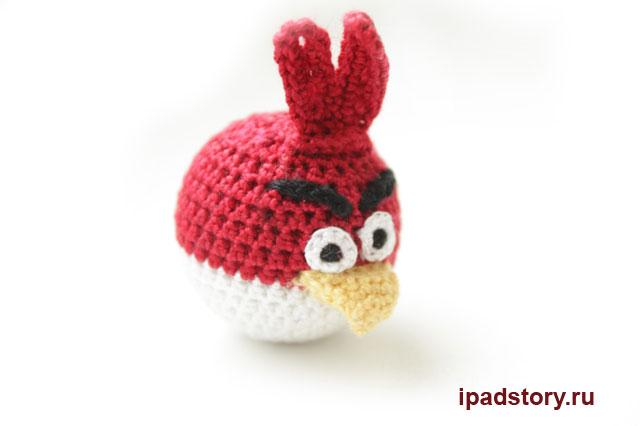 красная птичка из Angry Birds, вяжем крючком