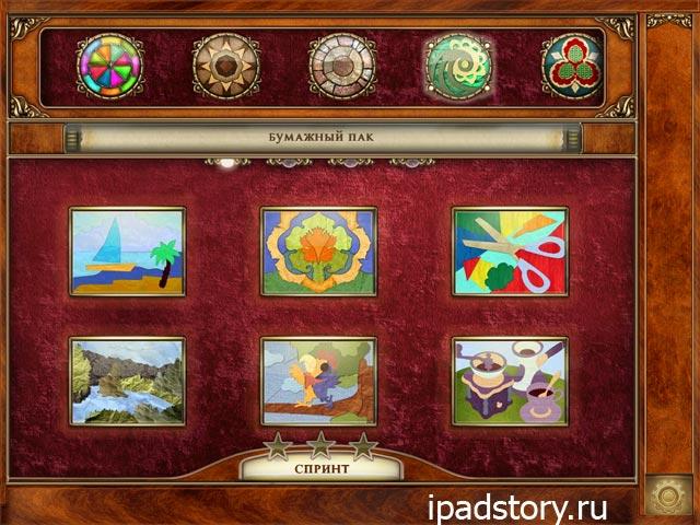 Patchworkz HD на iPad - выбор уровня