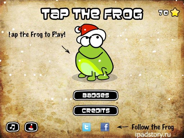 новогодние уровни в Tap The Frog