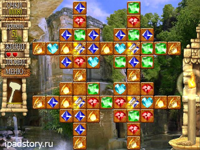 Долина Богов: головоломка три в ряд