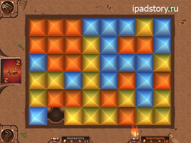 игровое поле в приложении Ramses II на iPad