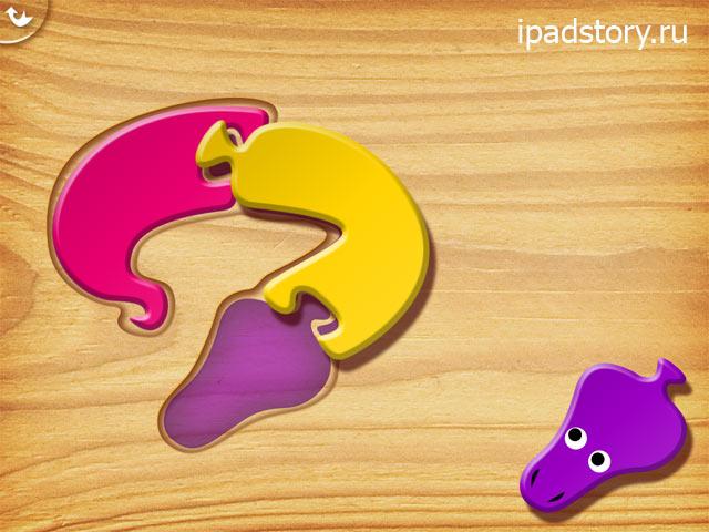My first puzzles: Snakes: первый уровень сложности игры на iPad