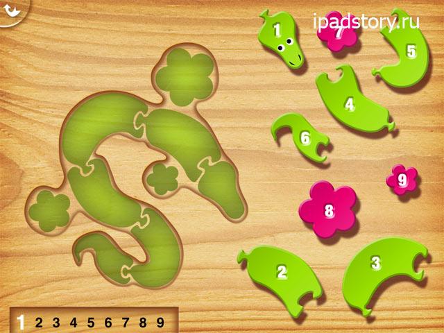My first puzzles: Snakes - приложение на iPad, скриншот
