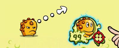 Zit - персонаж игры Snoticle на iPad
